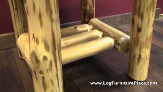 Cedar Lake Log End Table From Logfurnitureplace.com