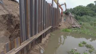 Sheet Piling for River Protection in Pampanga