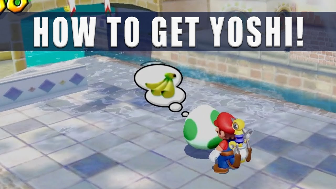 Super Mario Sunshine Switch how to get Yoshi - Super Mario 3D All Stars