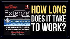 Extenze How Long Does It Take To Work?