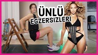 Beyonce'nin Egzersizini Denedim! Kalça ve Bacak Serisi   Ünlü Egzersizleri #3