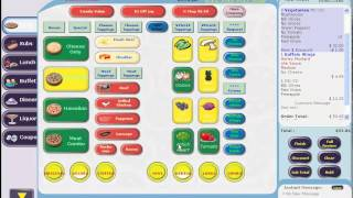 Basic order taking with the firefly pos system for restaurants