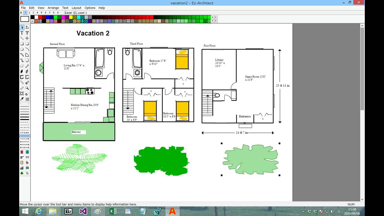Ez architect easy to use draw software for floor plans and for Easy architectural software