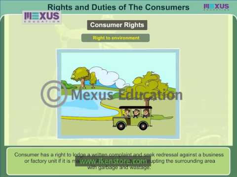 Rights and Duties of the Consumers