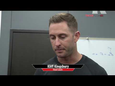 Kliff Kingsbury addresses media previewing Baylor