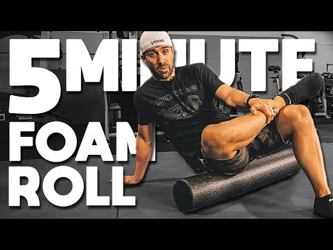 The BEST 5 Minute FOAM ROLLER Routine You'll Ever Do