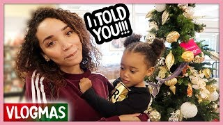 I Won a $100 Bet! Shopping for a Tree | Vlogmas Ep. 1