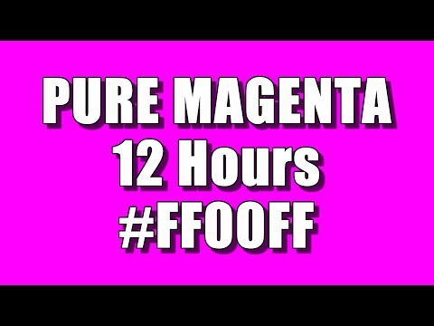 BLANK SCREEN OF PURE MAGENTA / FUCHSIA COLOR FOR 12 HOURS – FULL HD – 1920 x 1080 – HEX #FF00FF