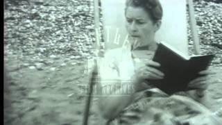 Silent comedy set on a beach, 1960's -- Film 17136