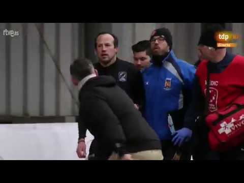 Monumental tangana tras el Bélgica-España de rugby