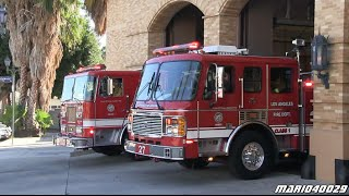 Los Angeles Fire Department - Light Force 27 + Engine 27 Hollywood