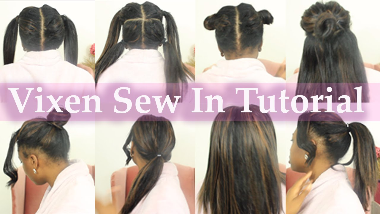 Install Vixen Sew In BY YOURSELF From Start Easy Braid Pattern - Diy braid pattern