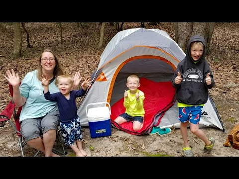 CHEAPEST Walmart Gear Camping Challenge + Fossil Hunting Adventure