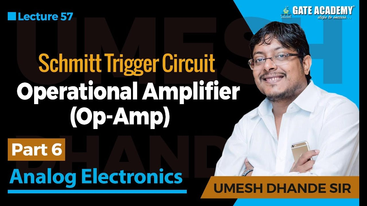 Operational Amplifierop Amp Part 6 Schmitt Trigger Circuit Asymmetrical Inverting Electronics Tutorial Analog