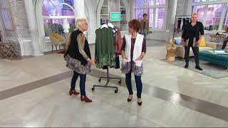 LOGO by Lori Goldstein Knit Vest with Printed Trim and Pockets on QVC(, 2017-10-03T14:50:25.000Z)