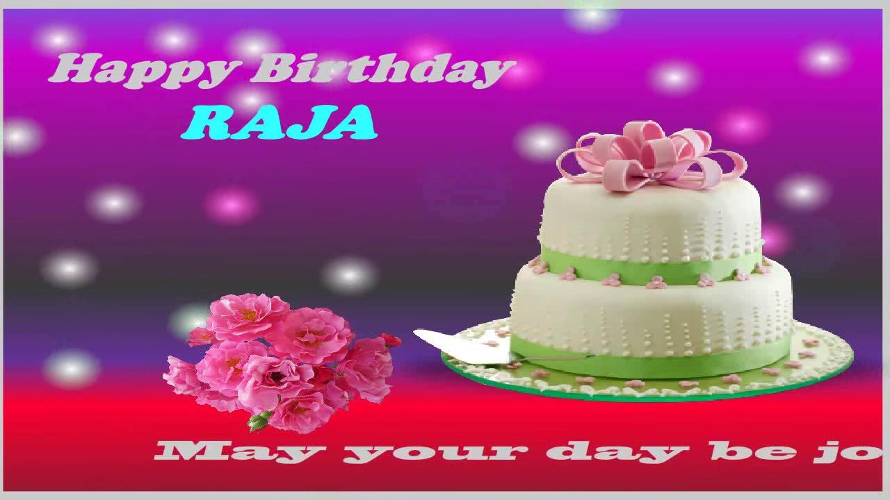 Happy Birthday Raja Name Video Card