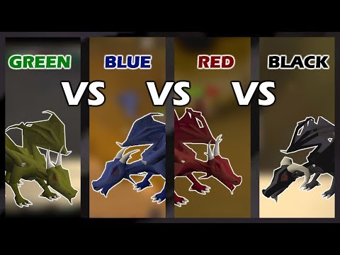 [OSRS] Green VS Blue VS Red VS Black Dragons | Which One Is Best For PROFIT