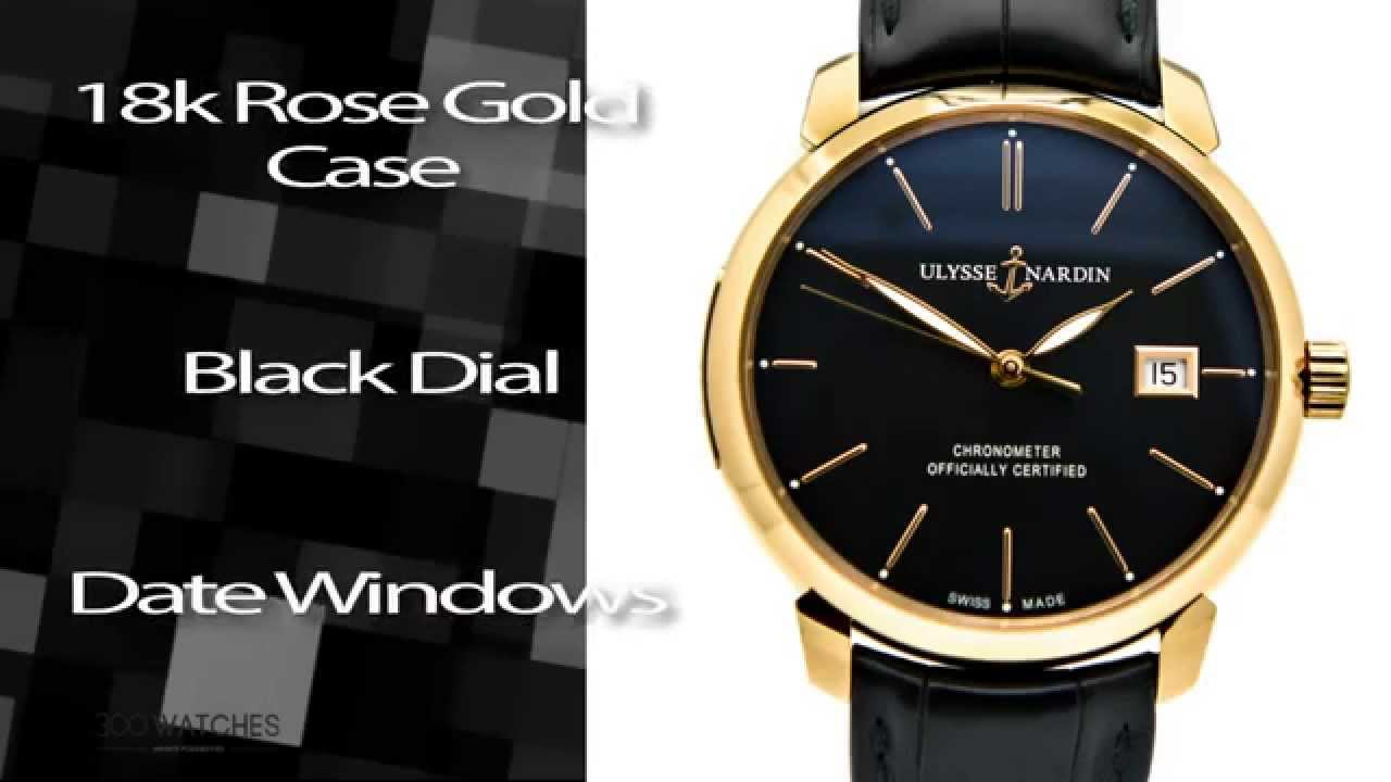 Ulysse Nardin 18k Rose Gold San Marco Classico Automatic Watch - YouTube 52f4d2a0c49