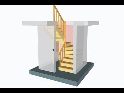 Расчет забежной лестницы с поворотом на 180 своими руками – с помощью калькулятора KALK.PRO