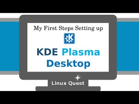 My First Steps Setting up KDE Desktop