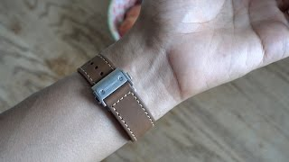 Hands-on Monowear Leather Deployant band for Apple Watch