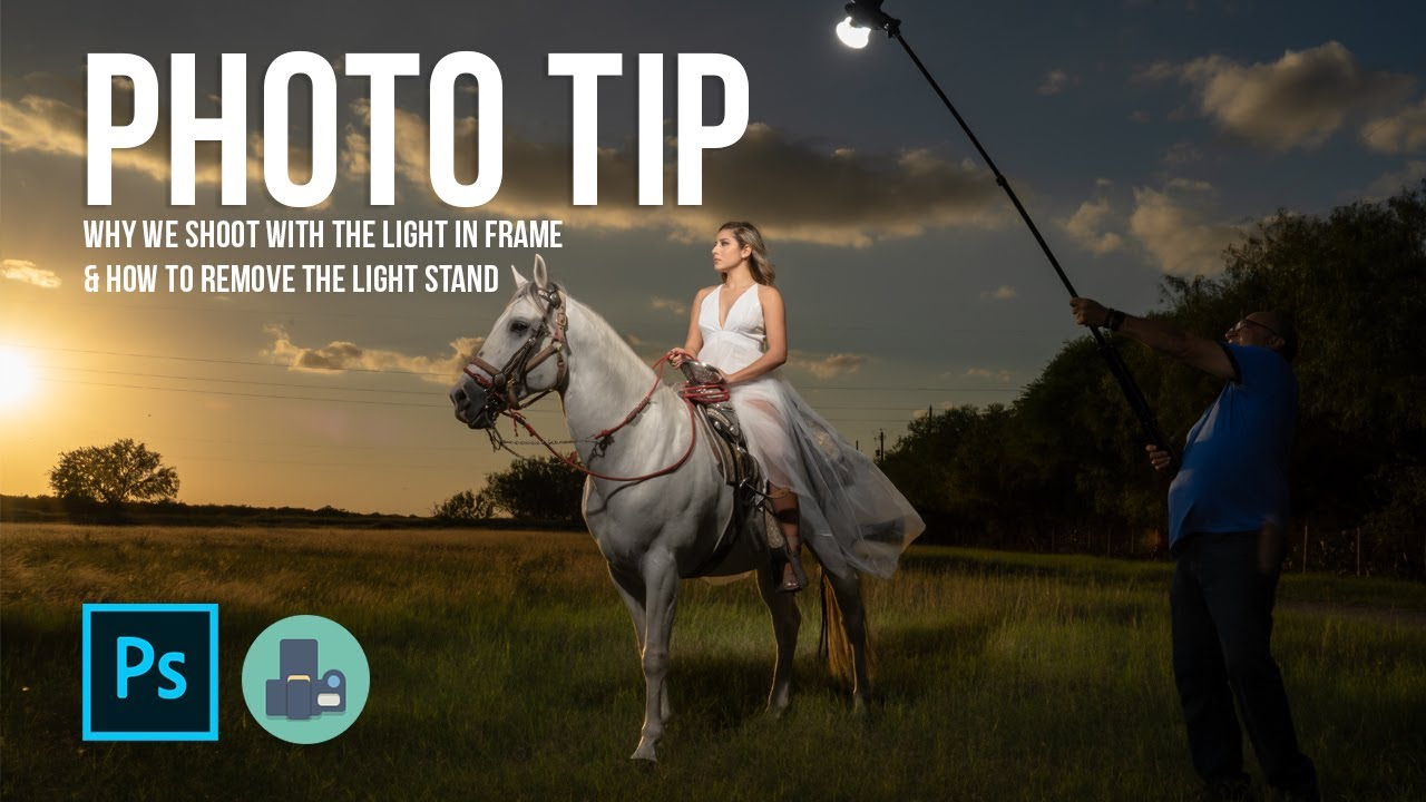 Photo Tip – Why we shoot with the light in frame & how to remove the light stand