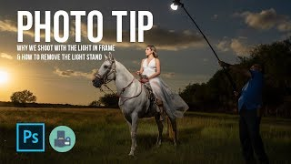 Photo Tip - Why we shoot with the light in frame & how to remove the light stand