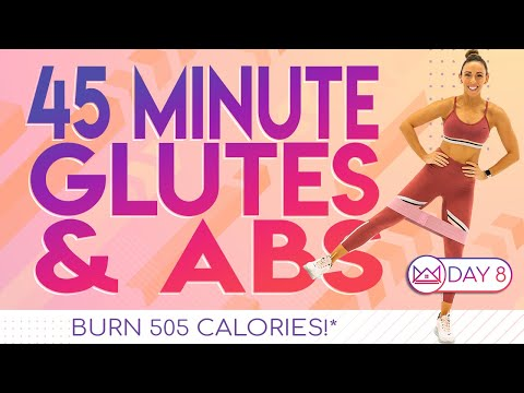 45 Minute Glutes & Abs At Home Workout ��Burn 505 Calories! ��30 Day At-Home Challenge Workout | Day 8