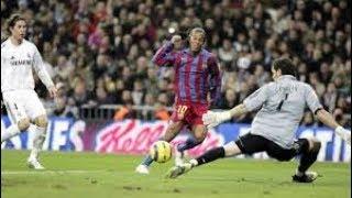 Real Madrid vs FC Barcelona (0-3) Ronaldinho Show in Santiago Bernabeu 2005