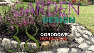 GARDEN DESIGN (38) Wrzosy w kamiennym klombie - Kamień dekor. i czarny cement