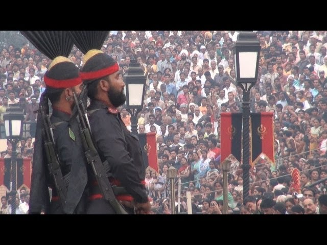 Pakistan versus India at Wagah border parade Travel Video