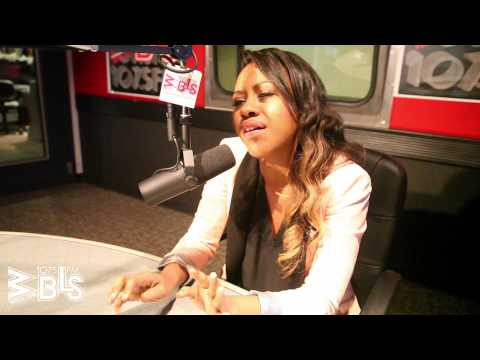 """Sasha Allen stops by """"Afternoon with Jeff Foxx"""" at the WBLS 107.5 studios"""