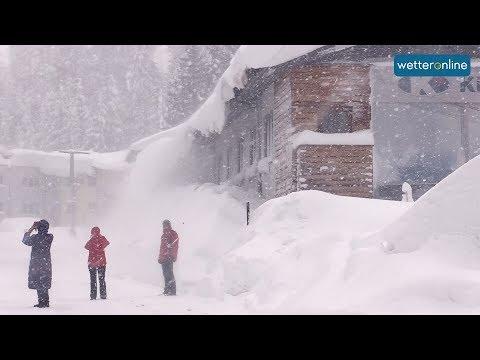 Schnee ohne Ende in den Alpen (07.01.2019)
