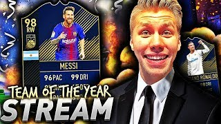 TEAM OF THE YEAR LIVESTREAM MED MASSE PAKKER!! 🎩💎 OVER 90 RANGERT SPILLER I JAKTEN PÅ TOTY?!