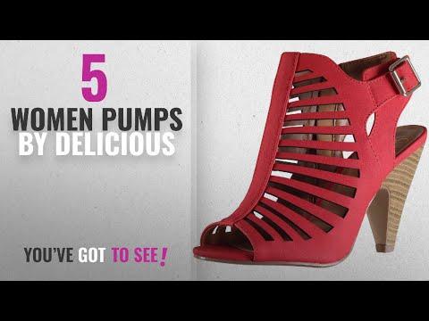 Top 5 Delicious Women Pumps [2018]: My Delicious Shoes Women's Shaky Synthetic Dress MVE Shoes , MVE