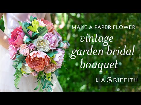 Frosted Paper Flower Bouquet for Your Wedding