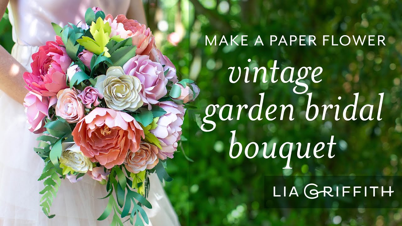 Video Tutorial: How to Arrange a Paper Flower Vintage Bridal Bouquet