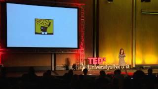 Look deeper -- write -- the wonders of writing | Nicoletta Demetriou | TEDxUniversityofNicosia