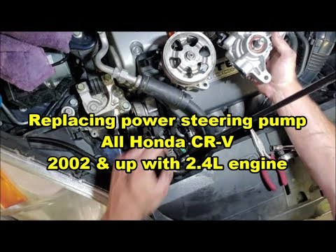 Replace Honda CRV Power Steering Pump