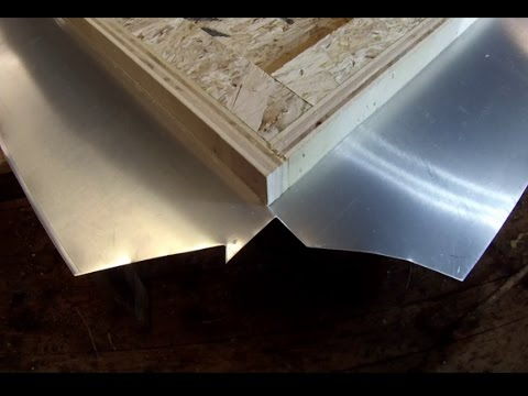 Zinc Counter Top Corner Fold Detail Tutorial