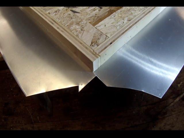 Zinc Counter Top Corner Fold Detail