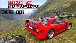 VR [Oculus Rift] Ferrari F40 Sunday Drive @ Transfagarasan - Real Traffic | Assetto Corsa Gameplay