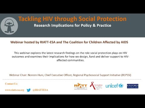 Webinar  Tackling HIV through Social Protection  Research Implications for Policy
