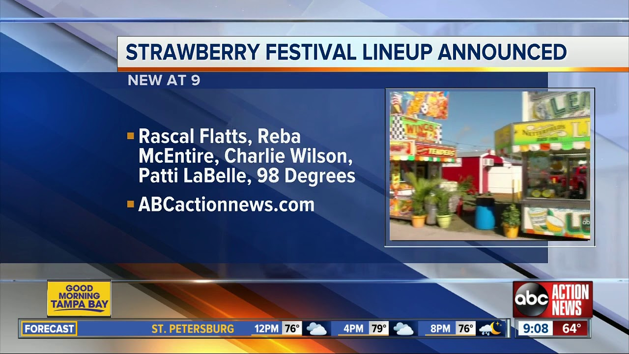 Strawberry Festival 2020 Dates.Florida Strawberry Festival 2020 Lineup Announced