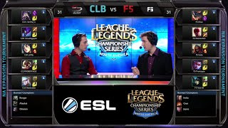 CompLexity Black vs Final Five Game 1 | NA LCS Expansion Tournament Spring 2015 | CLB vs F5 G1 60FPS