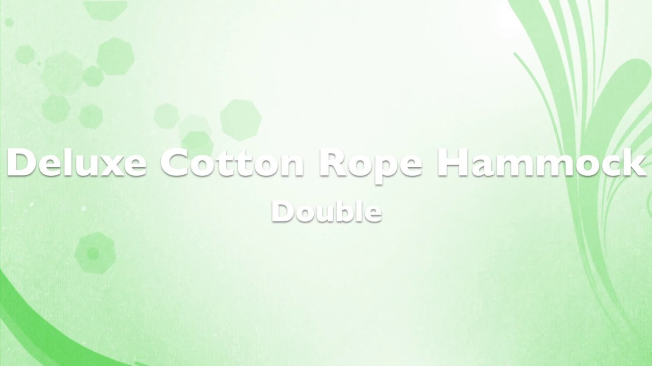 cotton rope hammock   double by hammock universe usa cotton rope hammock   double by hammock universe usa   youtube  rh   youtube