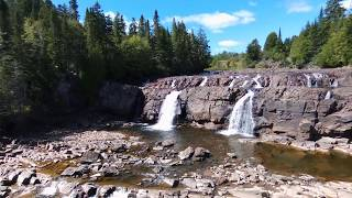 Drone Video of Lepreau Waterfalls & New River Beach, Lepreau, New Brunswick, Canada