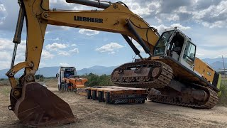 Loading And Transporting The Liebherr 964 Excavator - Fasoulas Heavy Transports