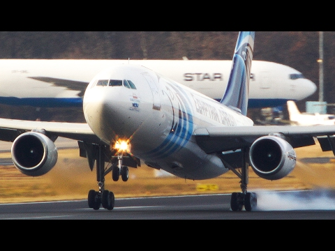 The OLDEST Airbus in Europe - Egypt Air Cargo Airbus A300 ARRIVAL and DEPARTURE