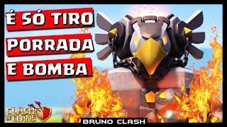 SNEAK PEEK #13: EAGLE ARTILLERY É SÓ TIRO PORRADA E BOMBA - Clash of Clans - Bruno Clash